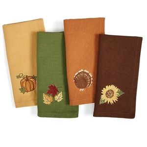 Homewear Harvest Festival  Napkins, Multi Set of 4